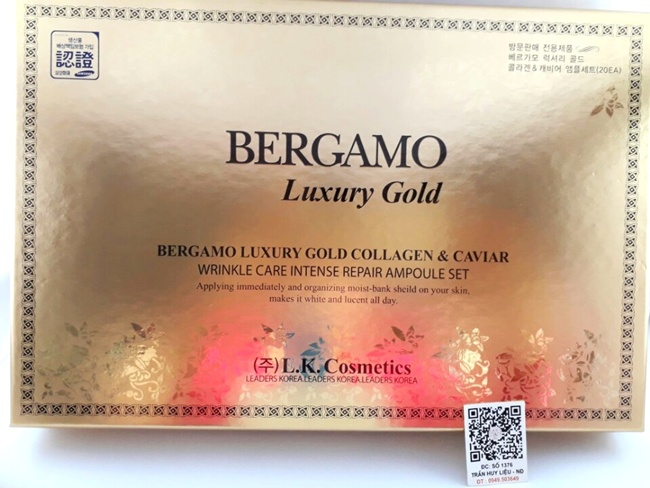 Serum Bergamo Luxury Gold Caviar Vitamin 15ml